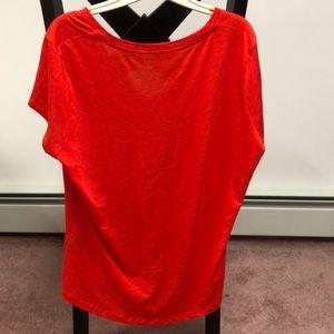 Ralph Lauren Tops - Ralph Lauren red V neck shirt sleeve shirt